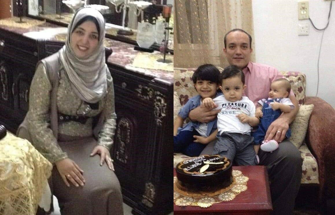 الطبيب المصري مع زوته وأطفاله الثلاثة