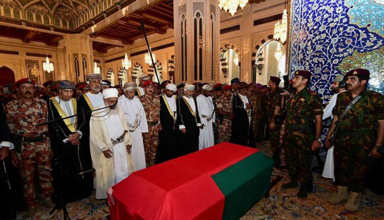جنازة السلطان قابوس
