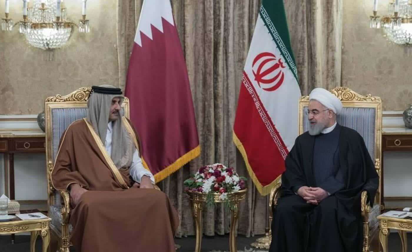 حسن روحاني وأمير قطر