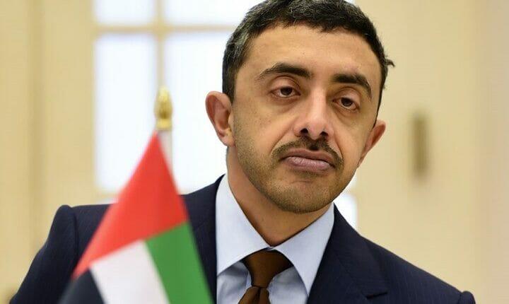 عبدالله بن زايد وزير الخارجية الإماراتي