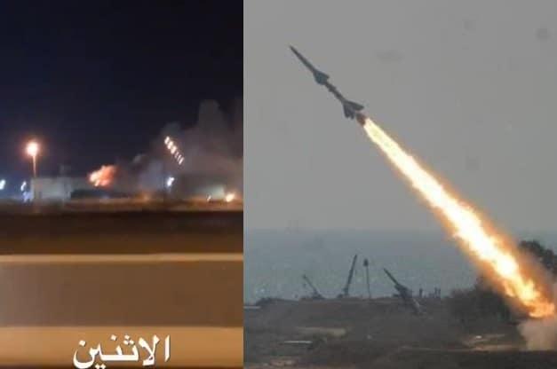 """الإستهداف أحدث انفجاراً هائلاً .. """"شاهد"""" الحوثيون يقصفون منشأة لعملاق النفط أرامكو وسط جدة"""