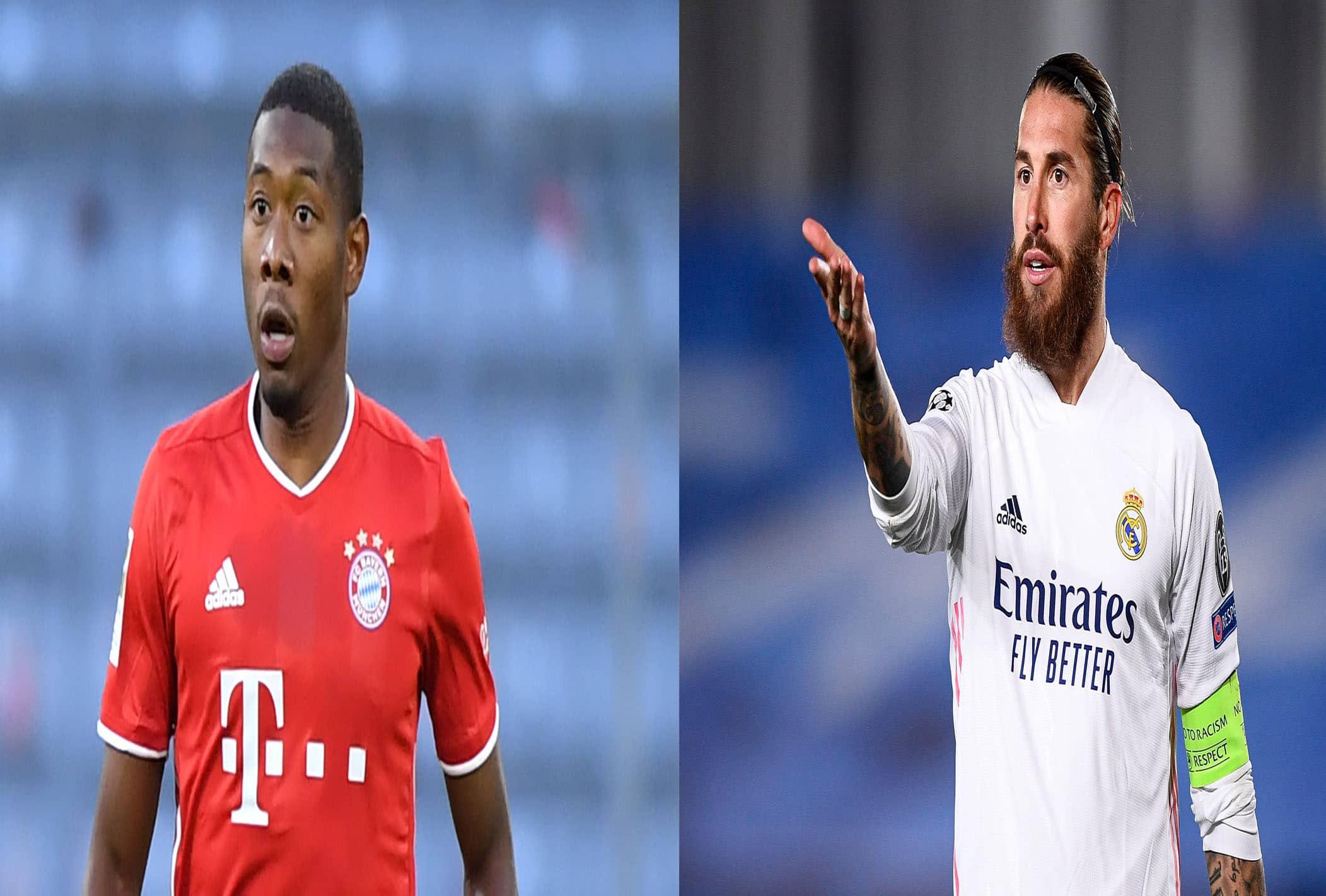 اللاعب النمساوي ألابا واللاعب الاسباني راموس