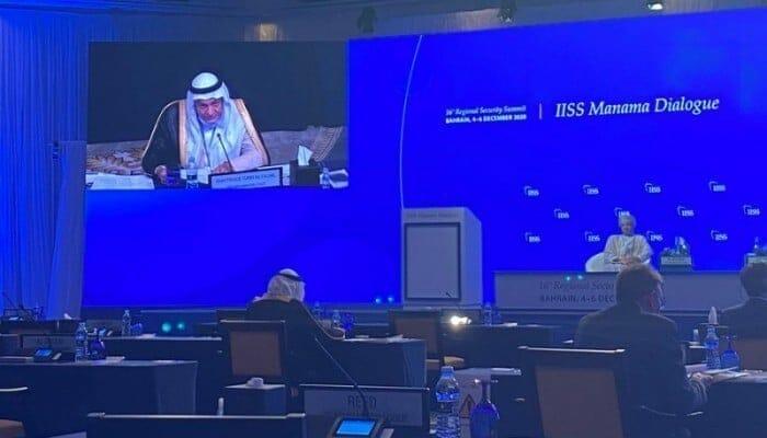 """""""شاهد"""" بدر البوسعيدي وزير خارجية عُمان يثير غضب تركي الفيصل عندما تحدث عن مؤامرة دول الجوار"""