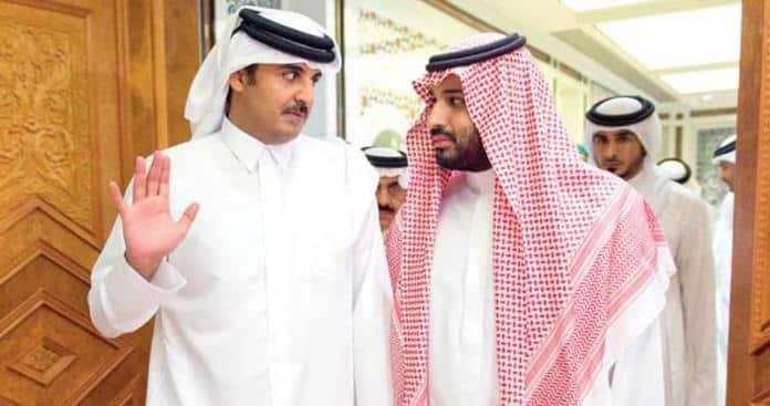 محمد بن سلمان والأمير تميم بن حمد