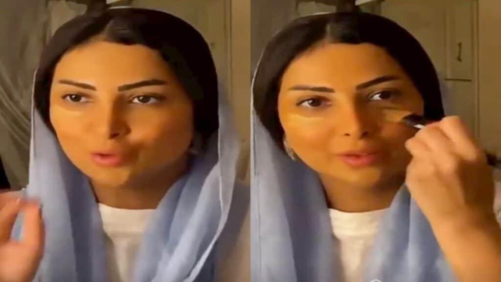 شاهد العنود عبدالله تخلع الحجاب على الهواء مباشرة وتستفز السعوديين: عجبكم مظهري!