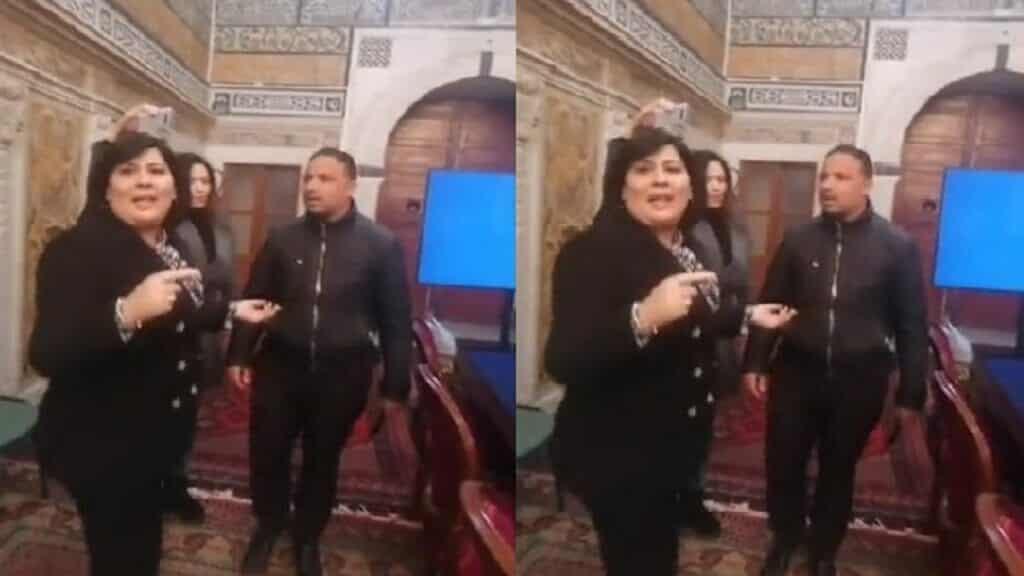 شاهد ما حدث مع عبير موسى داخل برلمان تونس عندما استفزت أحد النواب ليضربها وتصوره