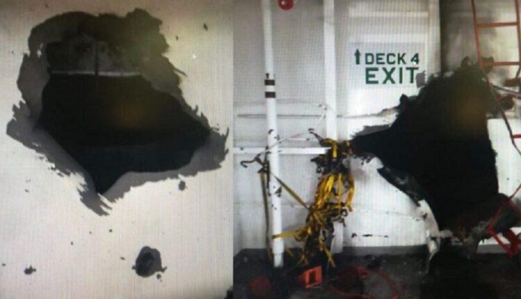 انفجار سفينة شحن اسرائيلية في خليج عمان واسرائيل تتهم ايران