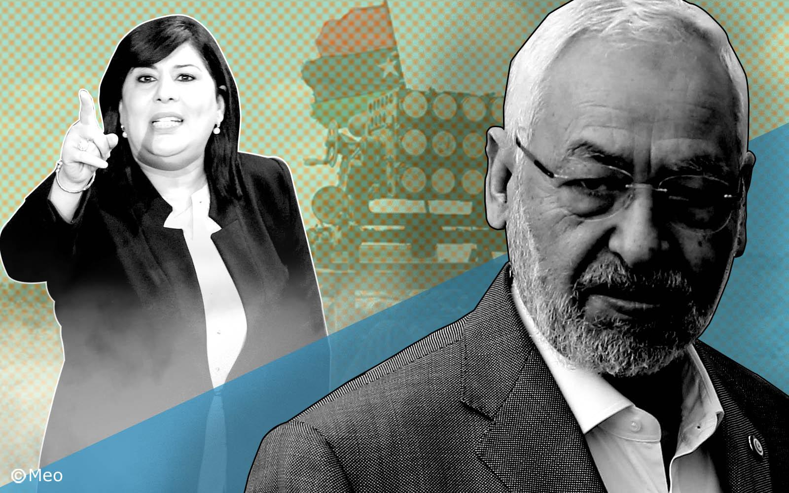 راشد الغنوشي يُعاقب عبير موسى المدعومة من الإمارات لتخريب تونس