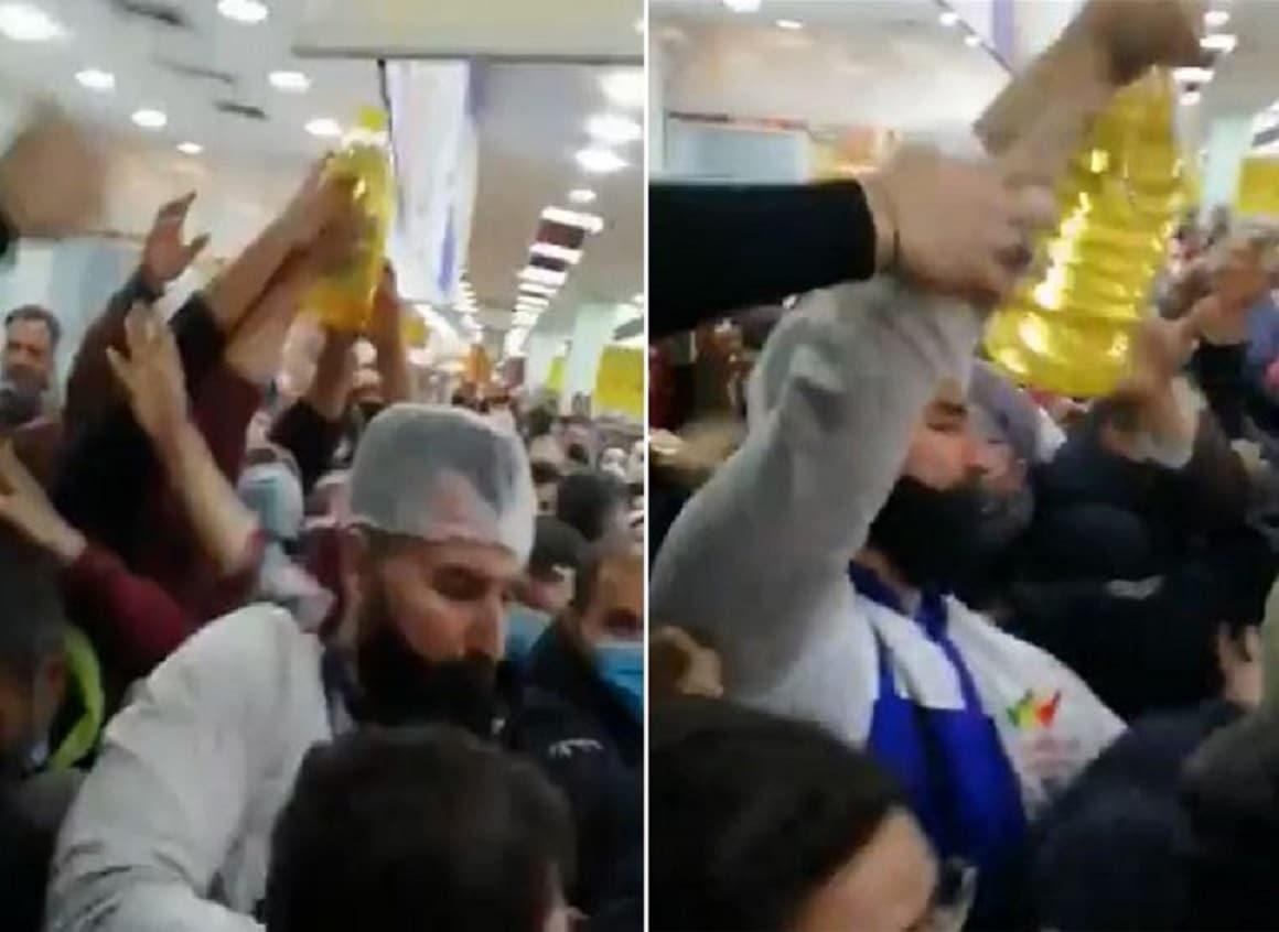 المجاعة بدأت حقاً.. مشهد كارثي في أحد متاجر لبنان من أجل عبوة زيت!