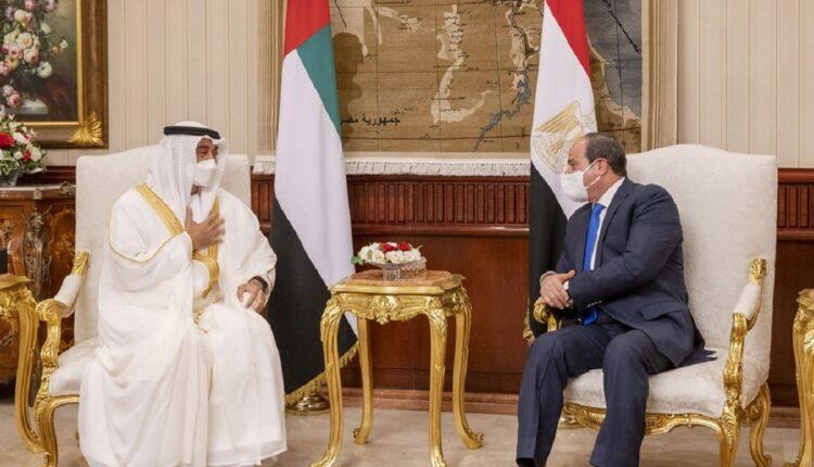 محمد بن زايد وصل الى مصر في زيارة مفاجئة التقى خلالها السيسي
