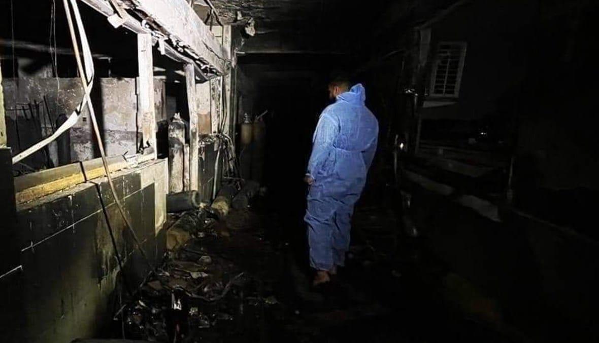 شاهد لحظة انفجار مستشفى ابن الخطيب .. عراقيون ماتوا حرقاً وهم يستنجدون بالأطباء
