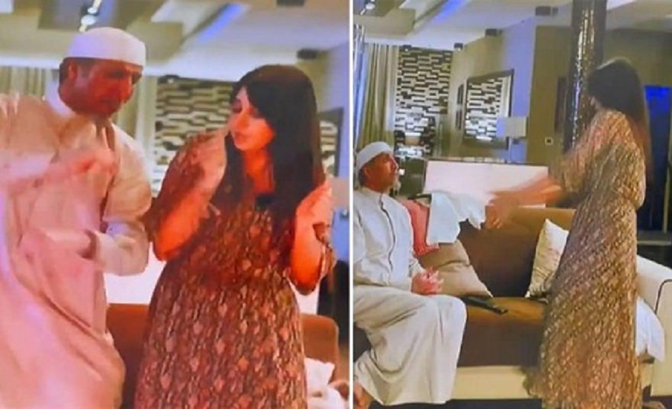 """""""رجل وزوجته"""".. فايز المالكي يرد على منتقدي مشهده الجريء والرقص الساخن مع أسيل عمران"""