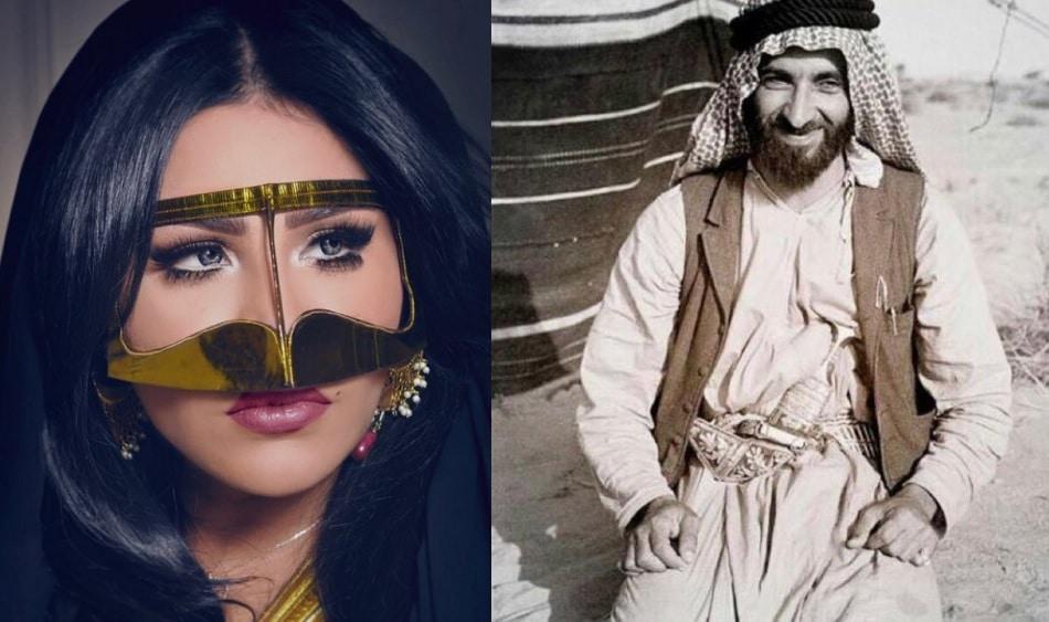"""أحلام تدخل على خطّ أزمة وزير خارجية لبنان وتنشر صورتين وتفتخر: """"أنا البدوية بنت علي الشامسي"""""""