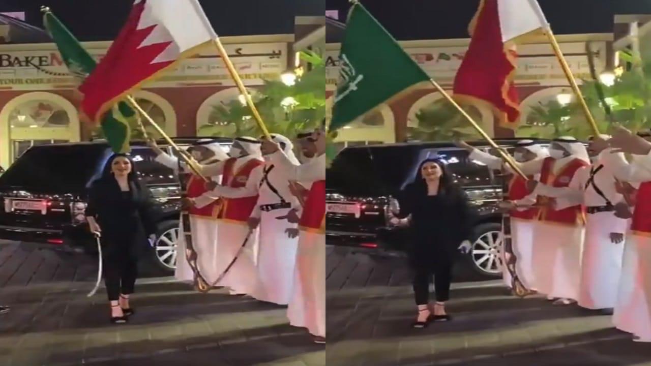 المهرة البحرينية في ورطة بعد استقبالها السعوديين بوصلة رقص للرجال فقط!