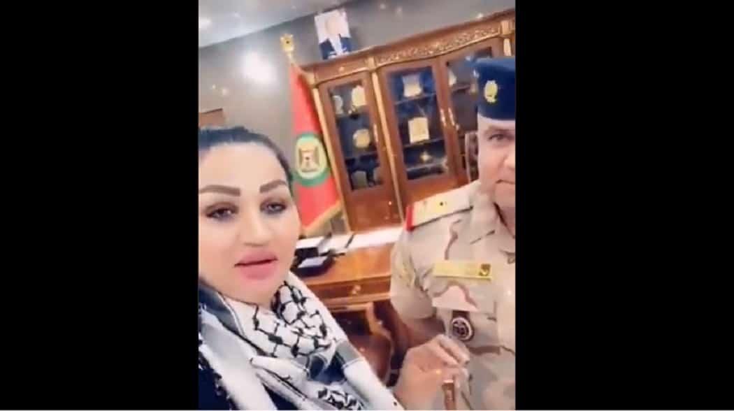 ظهور قائد عمليات بغداد مع فتاة حسناء يثير ضجة واسعة في العراق (فيديو)