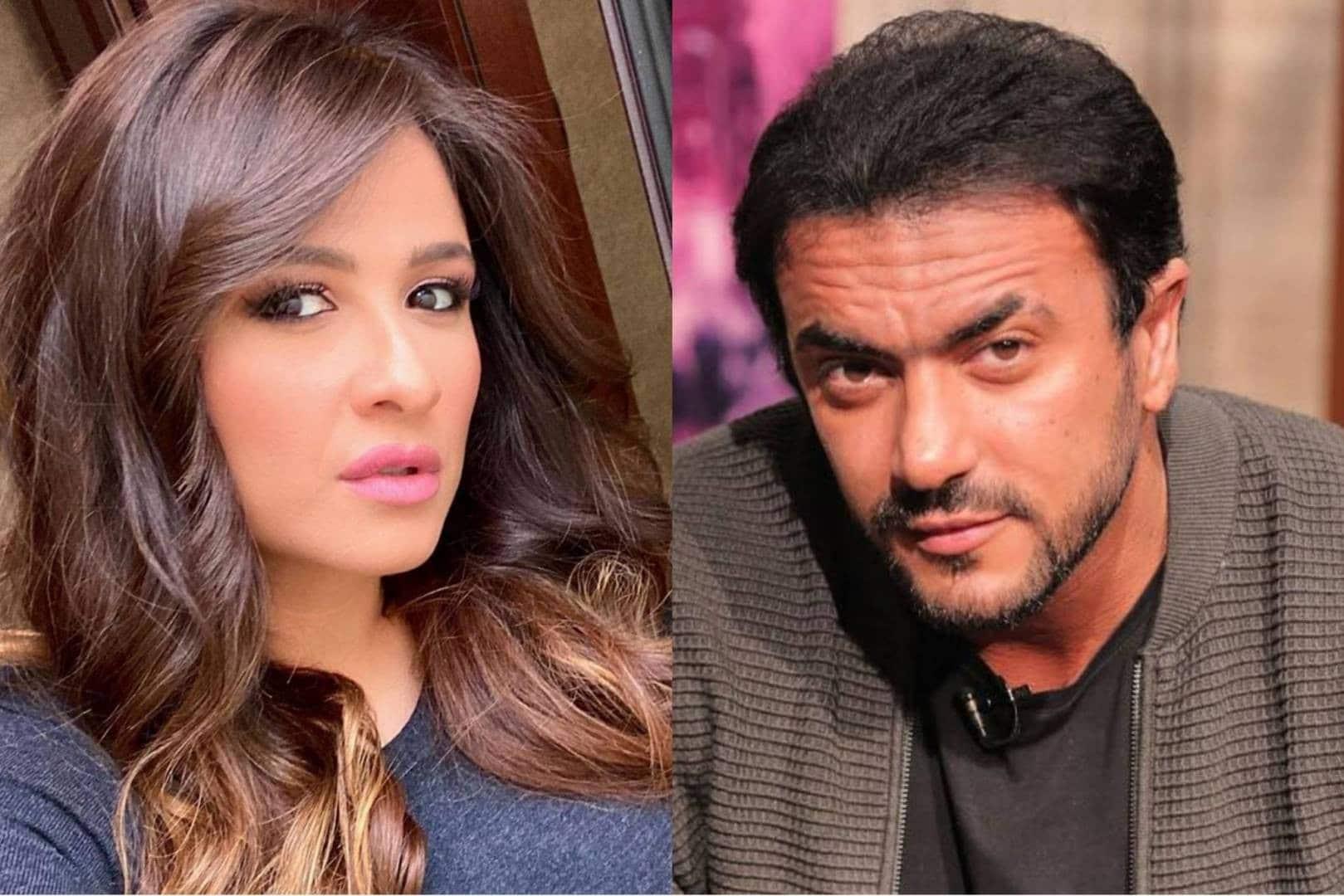شاهد ياسمين عبدالعزيز في أحضان أحمد العوضي وهما مصابان بكورونا!