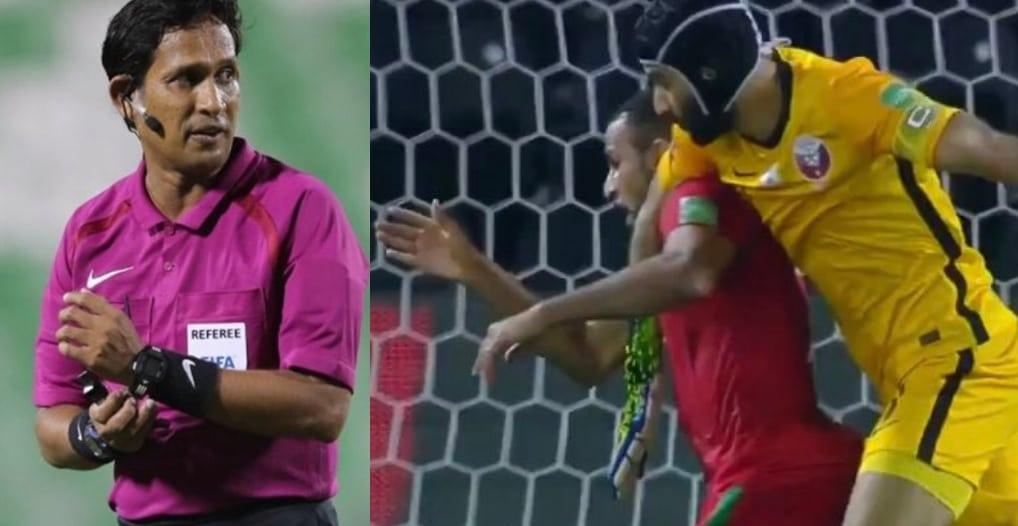 غضب عُماني واسع من حكم مباراة عمان وقطر (فضيحة وعار ومهزلة)!