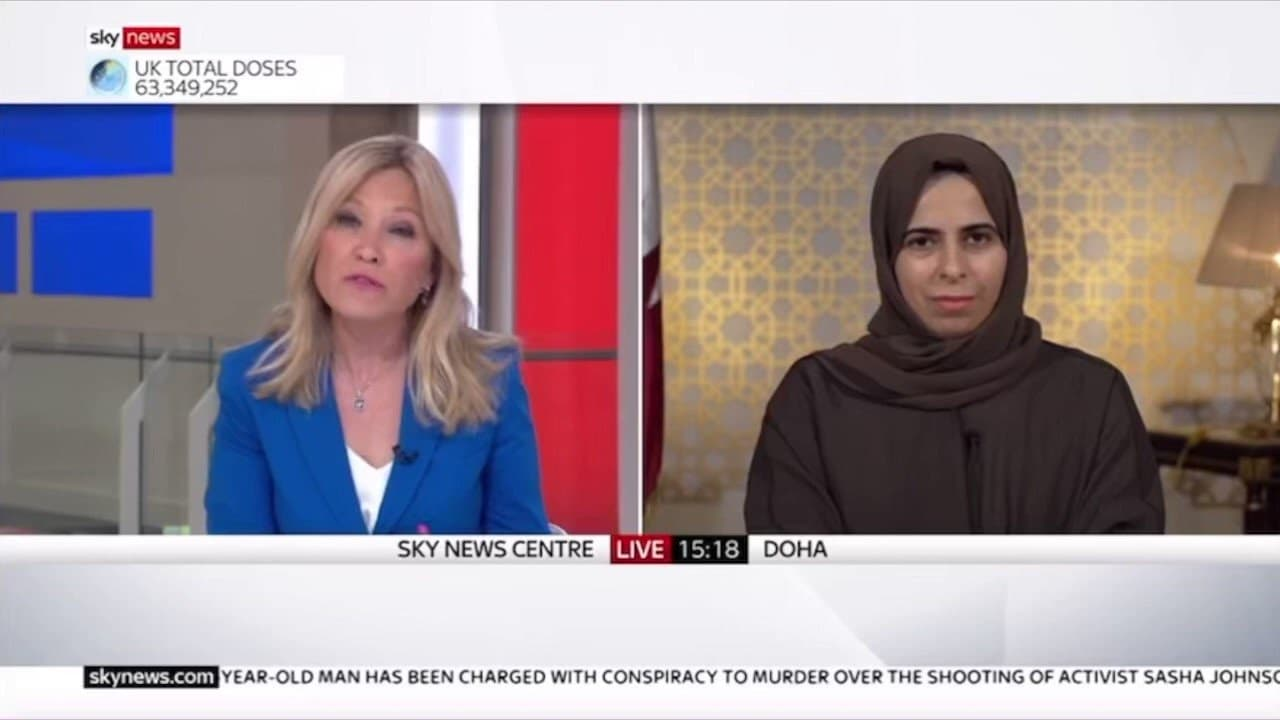 لولوة الخاطر تُفحم مذيعة (سكاي نيوز) في أقوى رد قطري بشأن أموال إعمار غزة