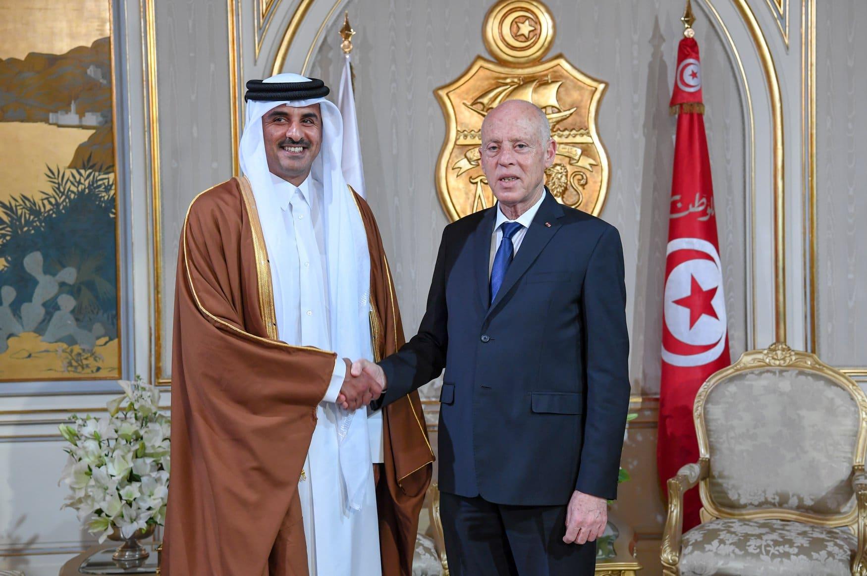 هذا ما شدد عليه أمير قطر في اتصال هاتفي مع قيس سعيد