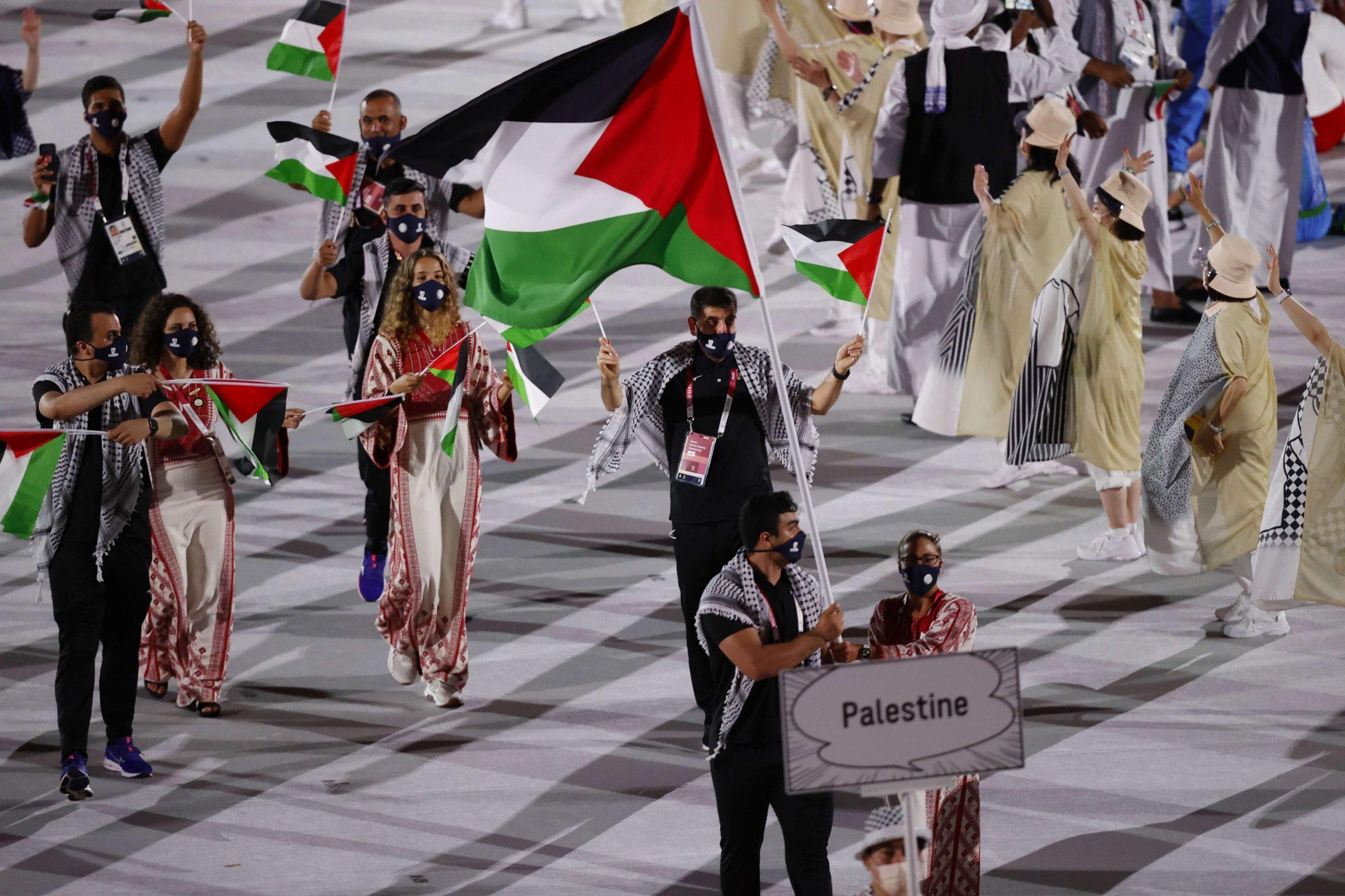 """قناة أمريكية تستعين بخريطة """"صفقة القرن"""" المجتزأة لفلسطين خلال أولمبياد طوكيو"""
