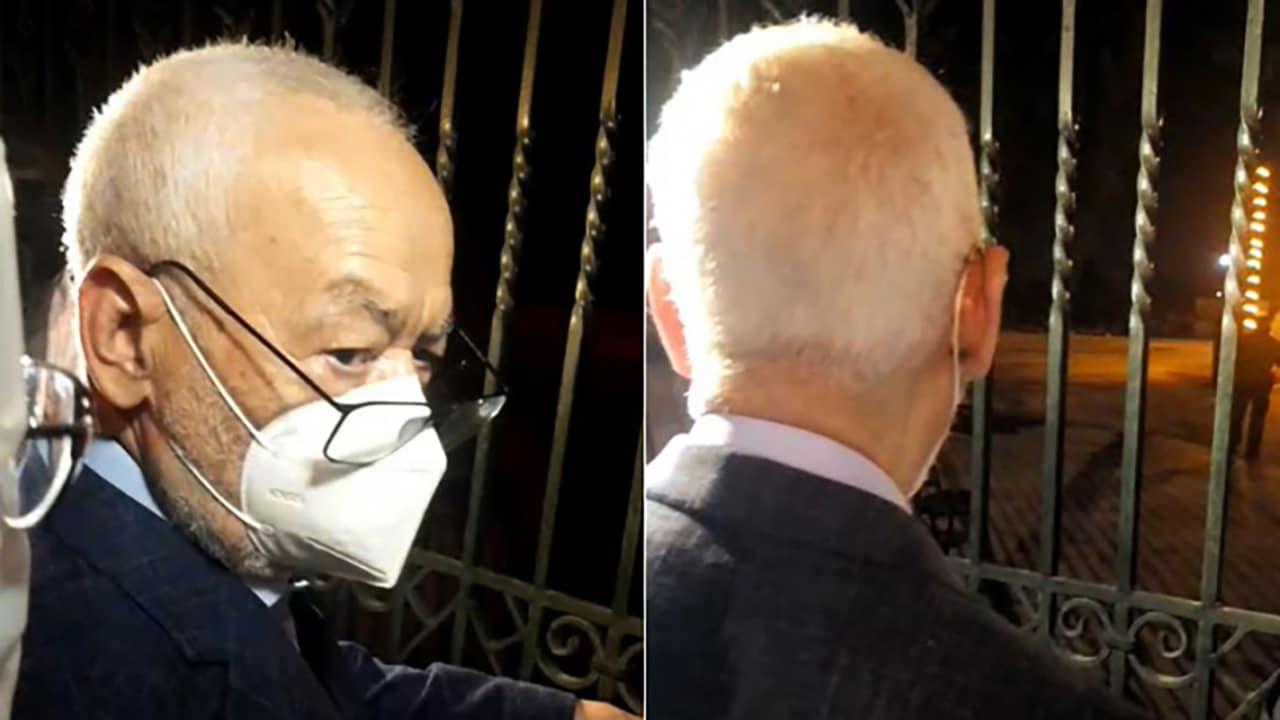 راشد الغنوشي يعتصم أمام البرلمان بعد منعه من دخوله وقيس سعيد يتجول في شارع الحبيب بورقيبة