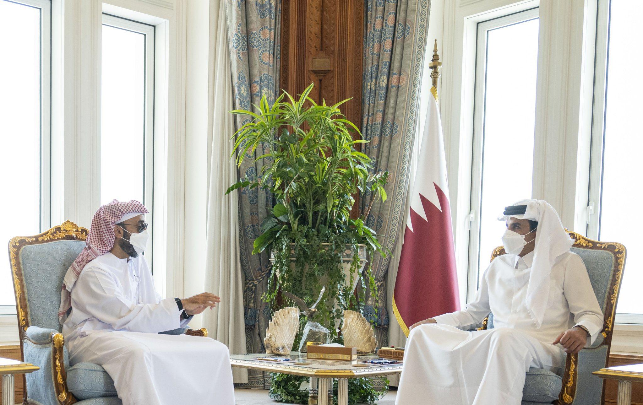 طحنون بن زايد التقى أمير قطر ونقل له هذه الرسالة من شقيقه محمد وأنور قرقاش يعلق