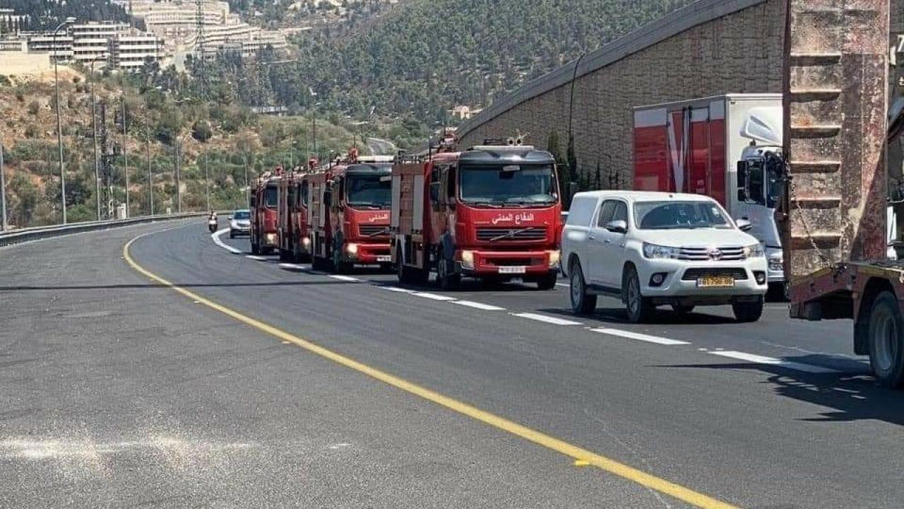 السلطة الفلسطينية تهرع لمساعدة الاحتلال في إطفاء حرائق القدس (شاهد)