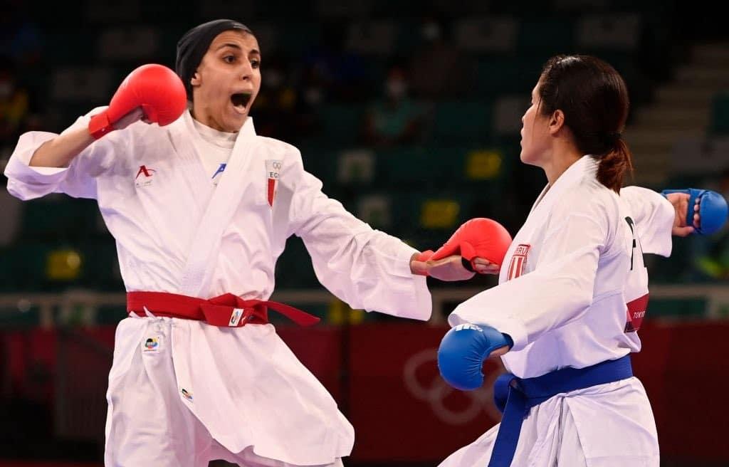 جيانا فاروق لاعبة الكاراتيه المصرية تتأهل إلى نصف نهائي أولمبياد طوكيو