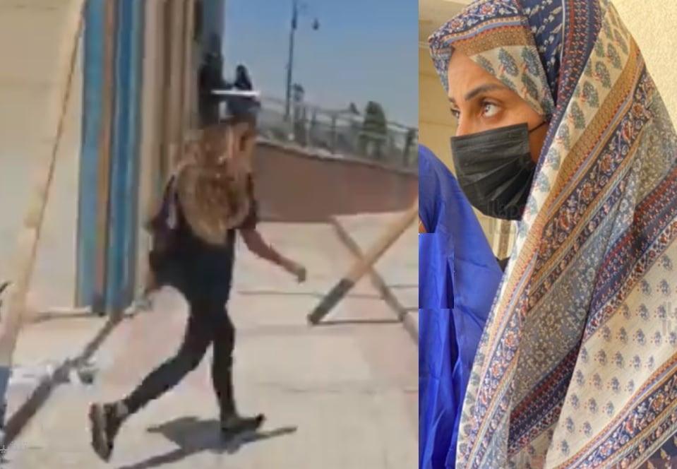 شاهدوا كيف ظهرت دينا الشربيني في جنازة دلال عبد العزيز ولماذا هربت منها!