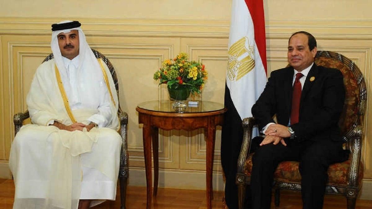 وفد قطري في القاهرة بعد لقاء الأمير تميم والسيسي