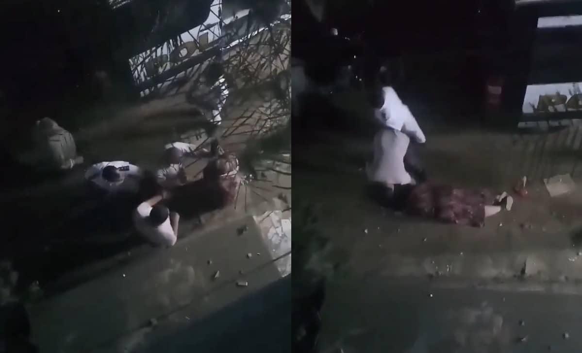 مشهد صادم .. اعتداء و سحل سيدة أمام الشرطة المصرية!