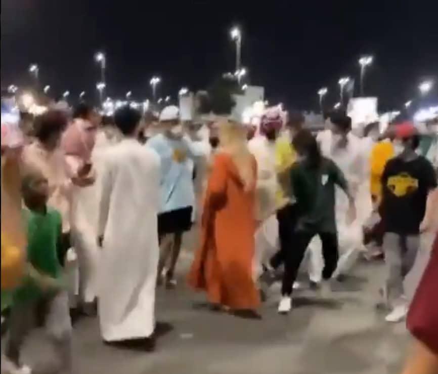 القبض على المتحرش بفتاة شقراء خلال احتفالات اليوم الوطني السعودي