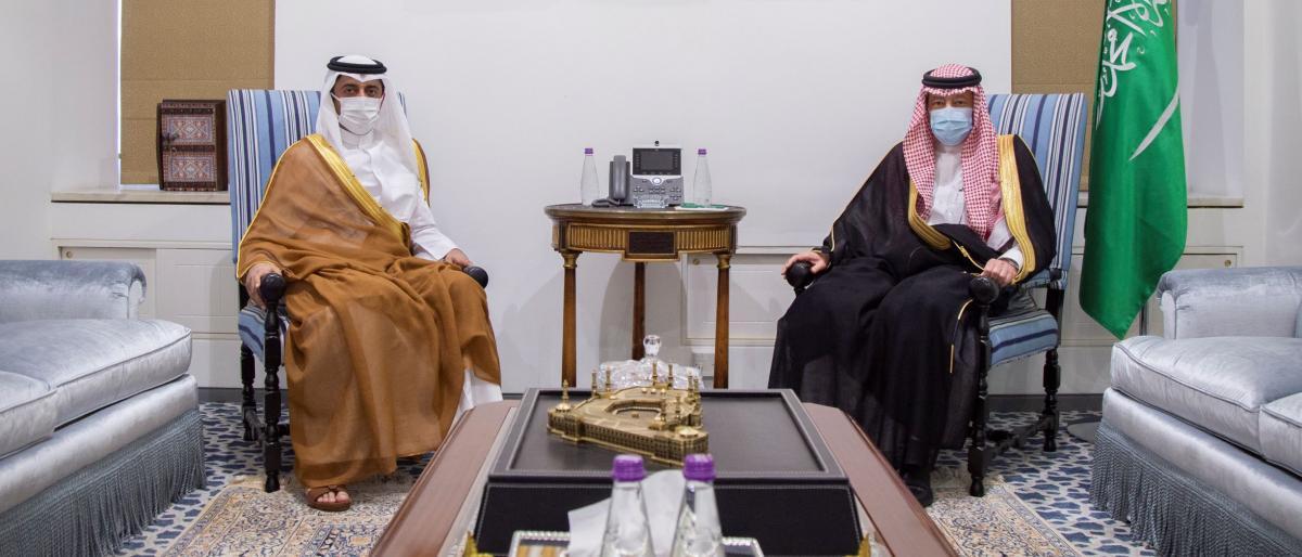 بندر محمد عبدالله العطية سفير قطر يسلم أوراق اعتماده للخارجية السعودية