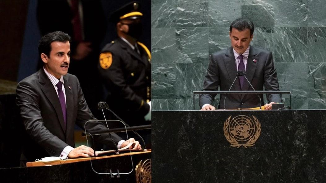 """خطاب أمير قطر في الأمم المتحدة يثير """"جنون"""" صحفي إسرائيلي .. شاهد ماذا كتب"""