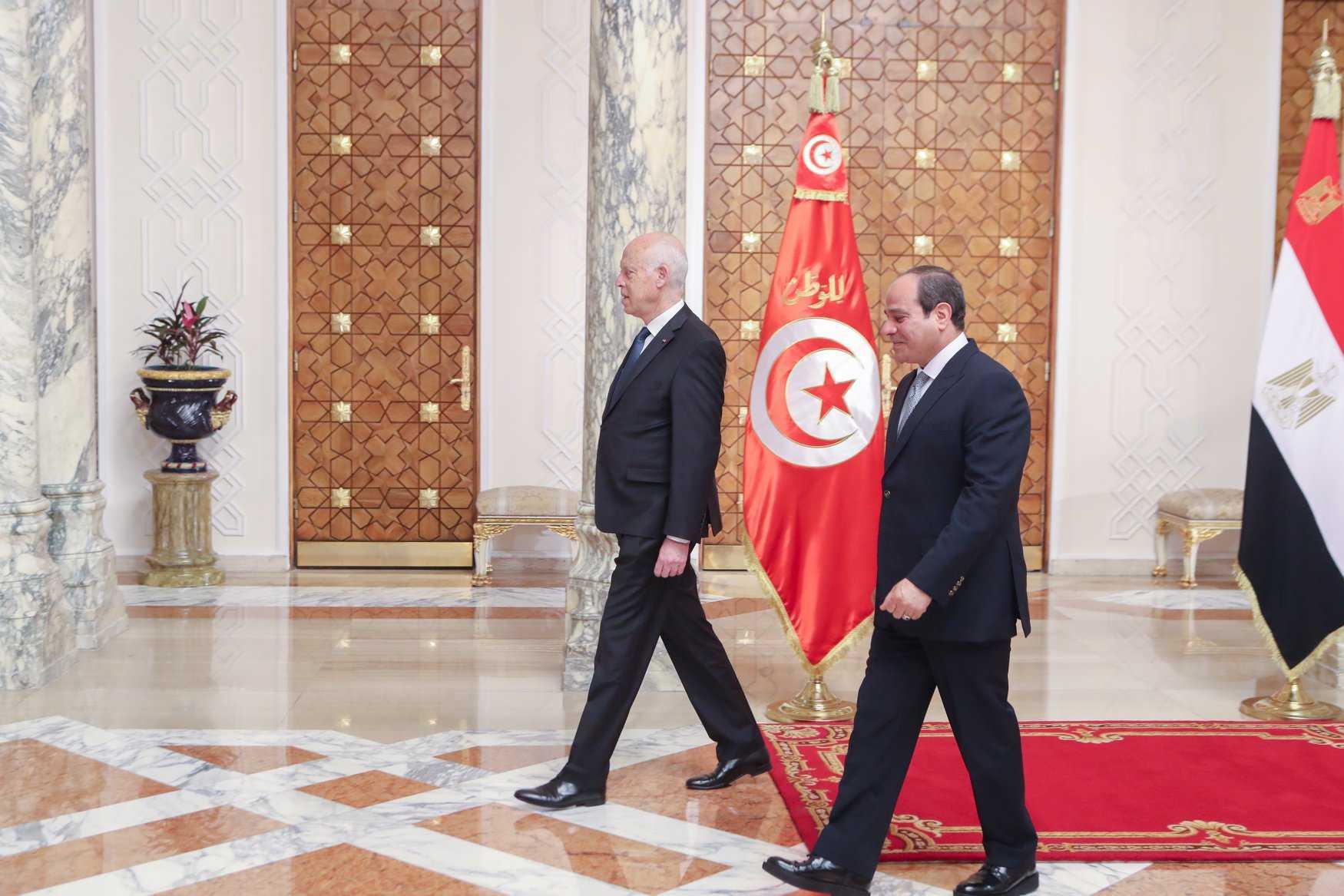 رئيس تونس قيس سعيد وعبدالفتاح السيسي