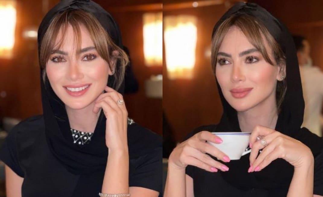 اللبنانية ستيفاني صليبا تحترم عادات السعودية وتلتزم بالحجاب.. شاهدوا كيف تبدو؟