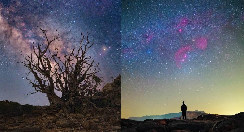 أضواء النجوم في محمية الحجر الغربي