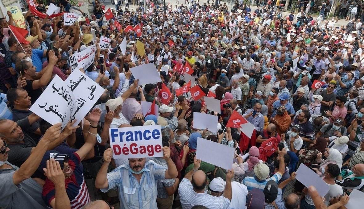 تظاهرات حاشدة في تونس لإسقاط انقلاب قيس سعيد الذي تم بدعم وتخطيط إماراتي (شاهد)