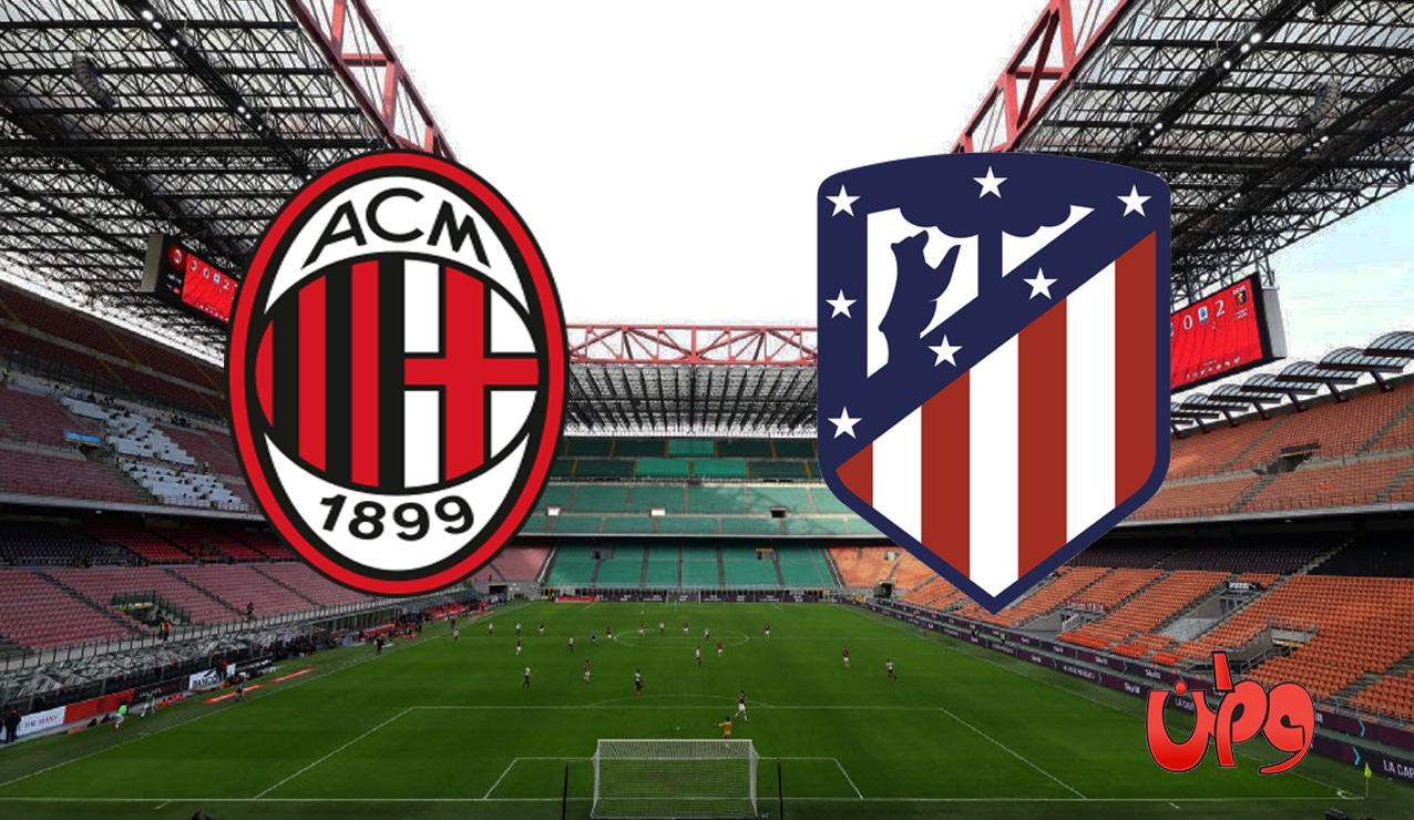 مباراة أتلتيكو مدريد وميلان في دوري أبطال أوروبا
