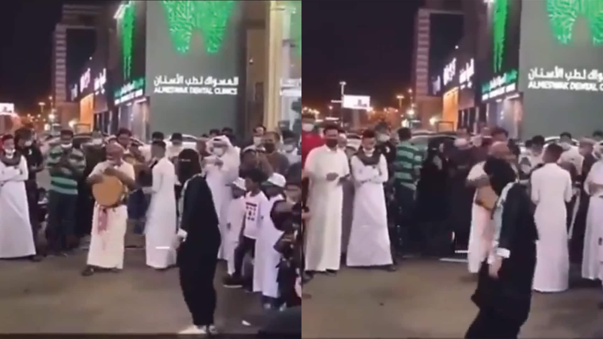 وصلة رقص في اليوم الوطني السعودي