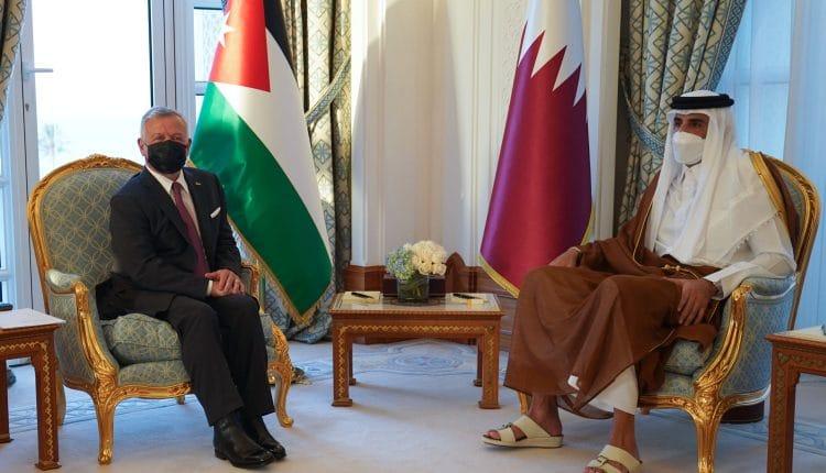 أمير قطر وملك الأردن