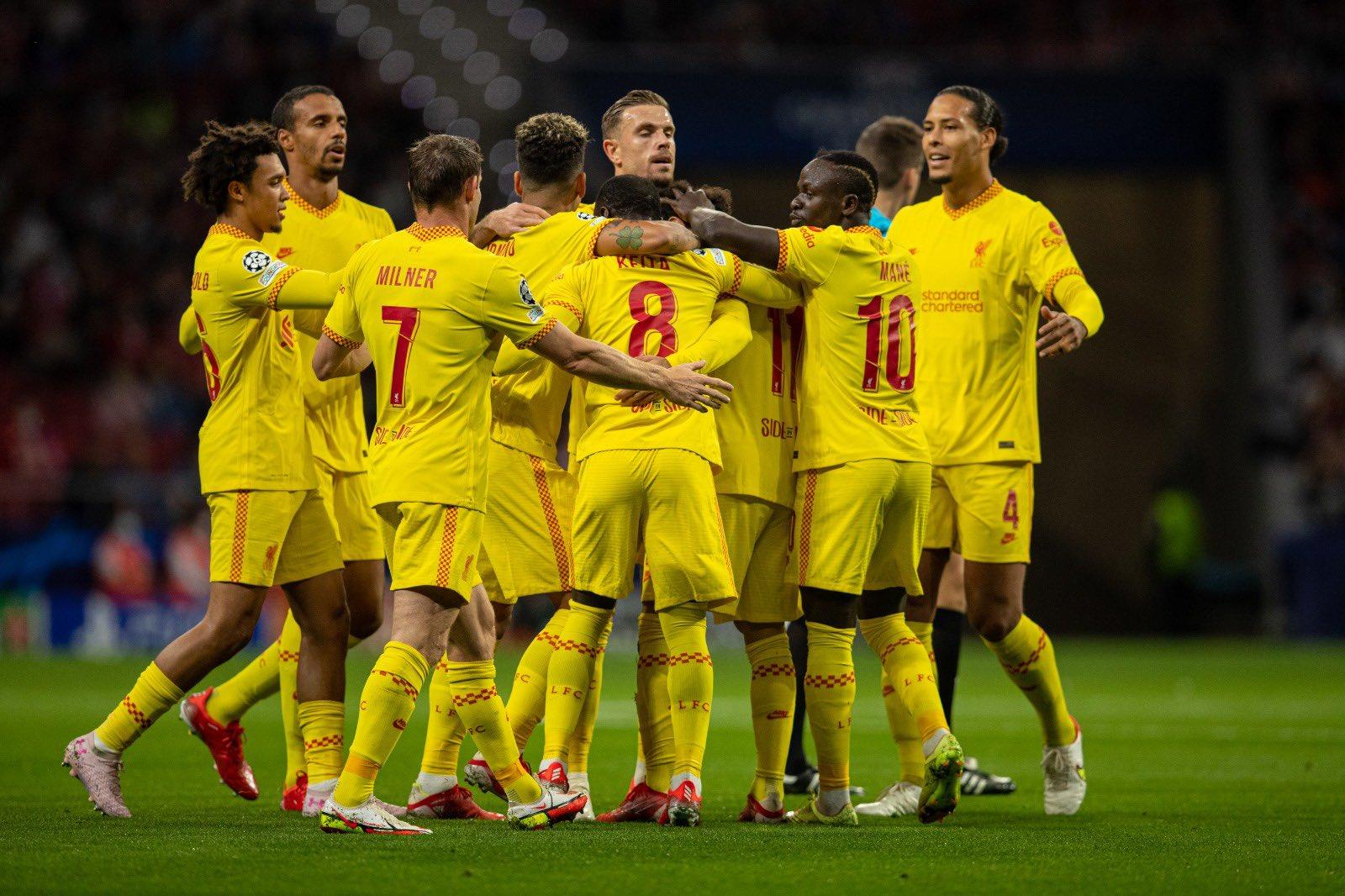 مباراة ليفربول وأتلتيكو مدريد في دوري أبطال أوروبا