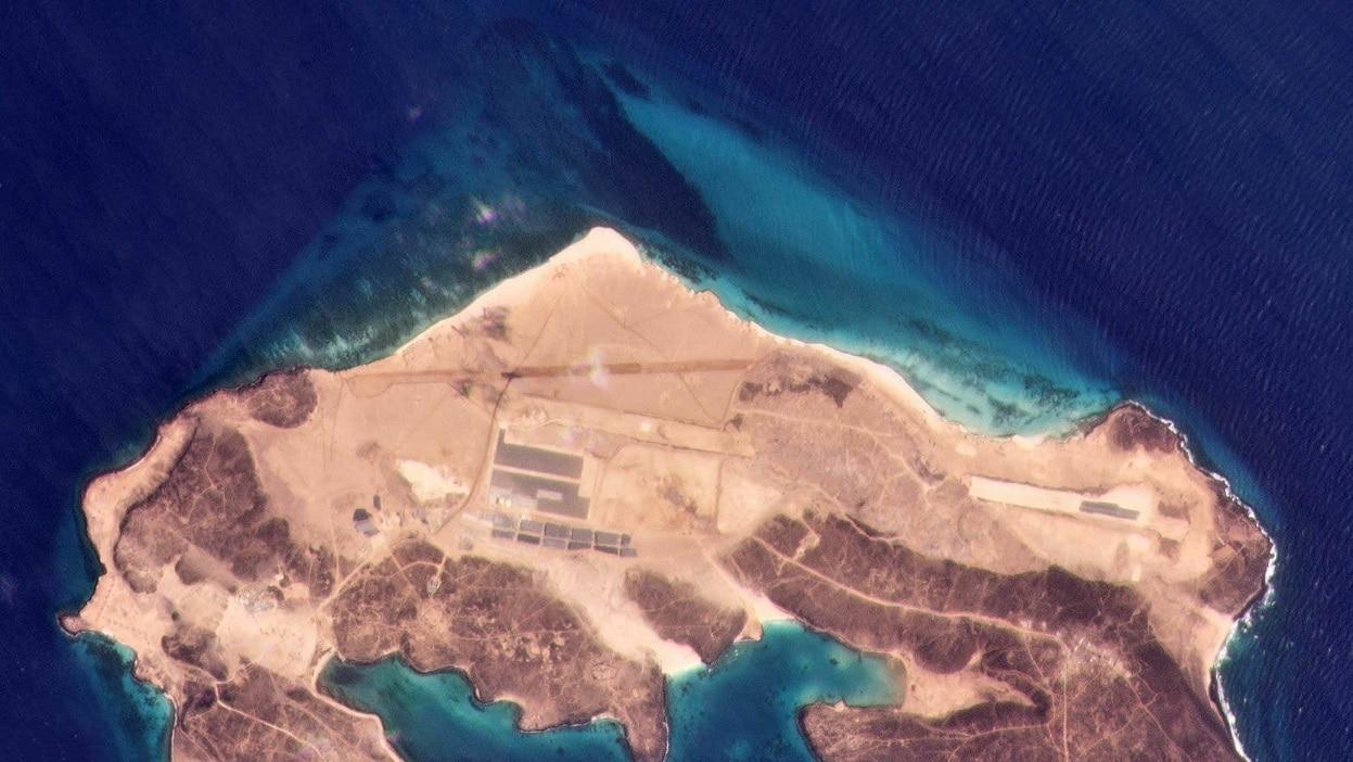 القاعدة الجوية في جزيرة ميون