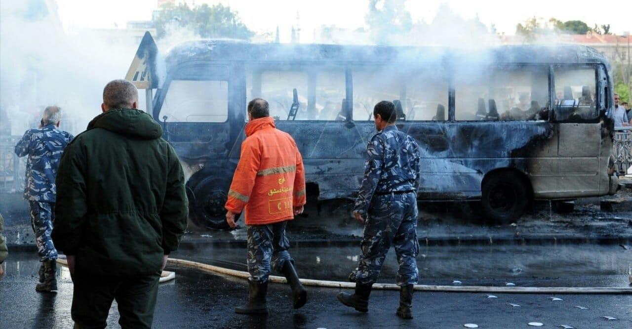 انفجار جسر الرئيس في دمشق