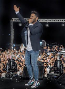 تفاعل الجمهور مع حفل تامر حسني في عمان حتى منتصف الليل