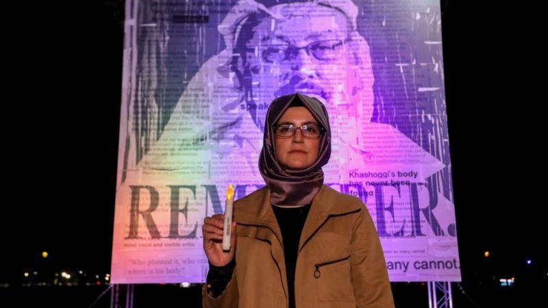 خديجة جنكيز تطالب بايدن بالوفاء بوعده بمعاقبة قتلة جمال