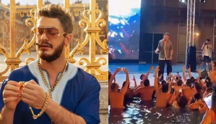 سعد لمجرد يقدم حفلة من دبي من حمام سباحة
