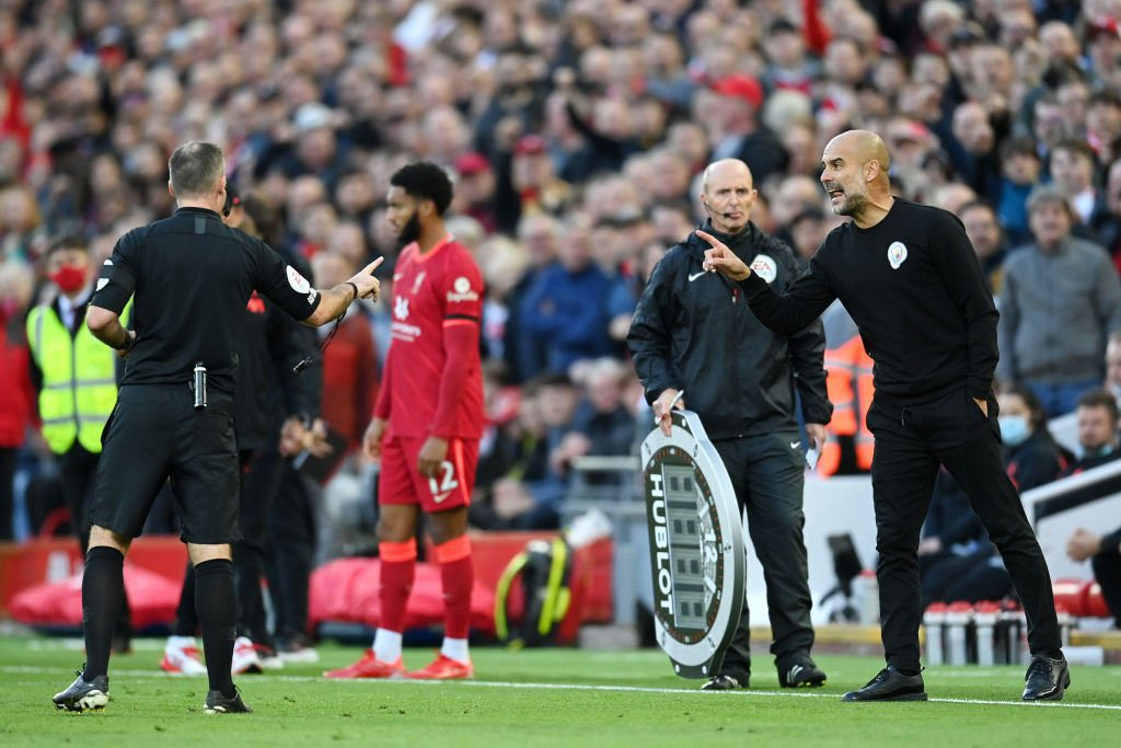 مانشستر سيتي ومزاعم تعرض جهازه الفني للبصق من أحد جماهير نادي ليفربول