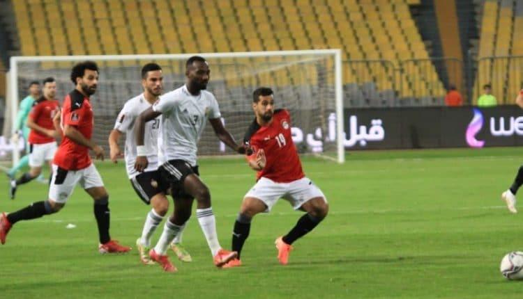 مباراة منتخب مصر وليبيا في منافسات تصفيات كأس العالم 2022