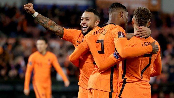 مباراة منتخب هولندا وجبل طارق في تصفيات أوروبا لمونديال كأس العالم 2022